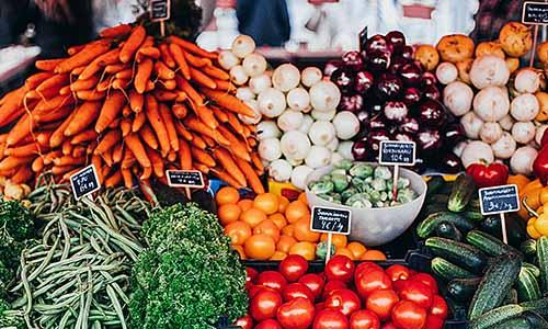 Beleuchtung für Obst und Gemüse