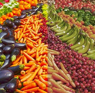 Farbwiedergabe Obst Gemüse