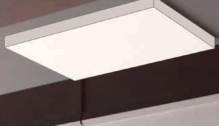 Aufbaumontage eines LED Panels