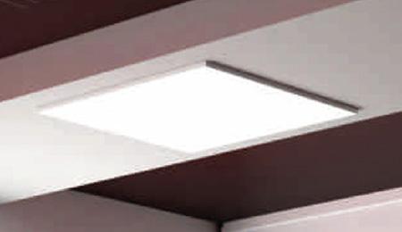 Einbaumontage LED Panel Rasterdecke