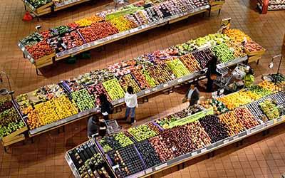 Grundbeleuchtung Supermarkt